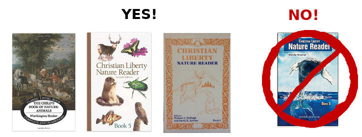 Christian Liberty Nature Reader Book Covers